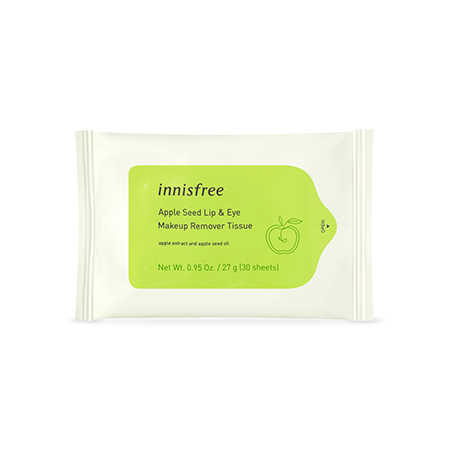 Apple Seed Lip & Eye Makeup Remover Tissue